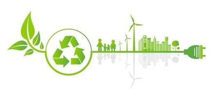 concepto de engranaje ahorro ecología vector