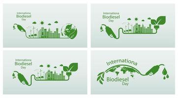 dia internacional do biodiesel vetor