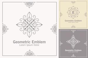Set of emblem template vector