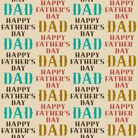 Happy Father's Day seamless pattern