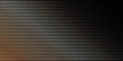Angled halftone dotted golden pattern on black