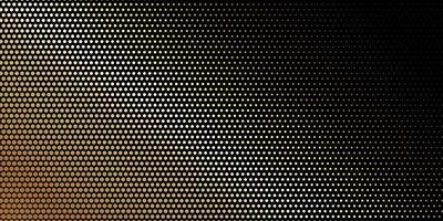 patrón dorado punteado de semitono en negro
