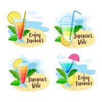 Summer drink badge collection