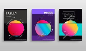 Geometric gradient circle cover set