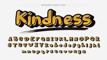 Bold Yellow Graffiti Artistic Font vector