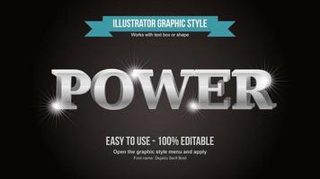 Bright 3D Elegant Silver Serif Artistic Text Effect vector