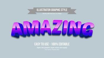 efecto de texto de dibujos animados púrpura brillante arqueado vector