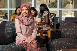 Portrait of Young Muslim Woman photo