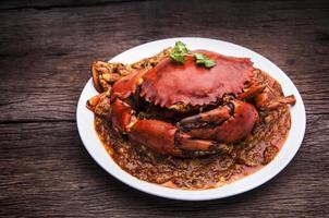 cangrejo de chile cocina de asia. foto