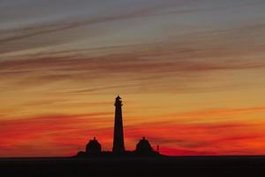 Westerhever (Germany) - Lighthouse in the evening photo