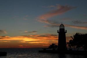 Boca Chita light at sunset