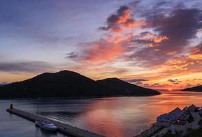 Sunset in Kas Marina photo