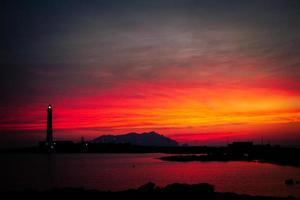 Twilight Lighthouse photo