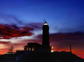 Major cape lighthouse.Santander.Spain. photo