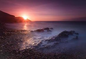 Sunrise at Bracelet Bay