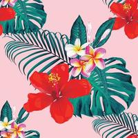 patrón de flores de verano
