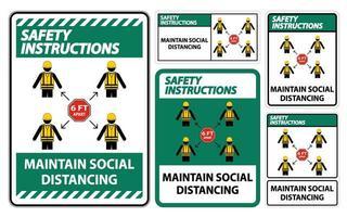 manter o distanciamento social vetor