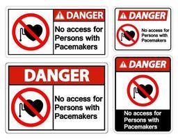 nessun accesso per le persone con il simbolo del pacemaker