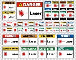 Laser Symbol Sign Symbol Sign vector