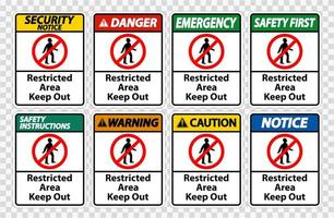 Restricted Area Keep Out Symbol Sign vector