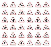 Dreieck-Warnschilder vektor
