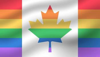 Canada Flag Pride Day Background vector