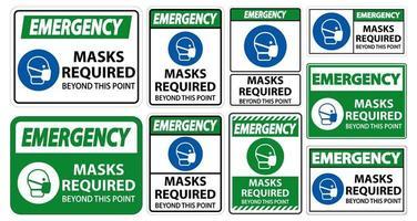 máscaras signos requeridos vector