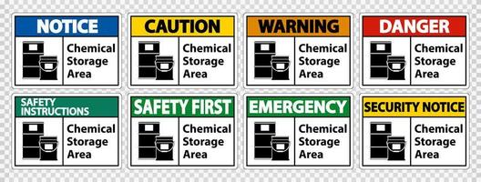 Chemical Storage Symbol Sign vector