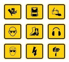 gelbe Gefahrensymbole vektor