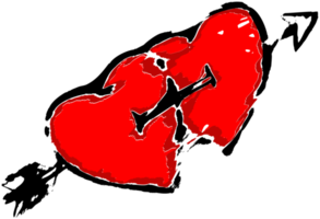 grunge cuore png