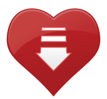 Heart icon arrow png