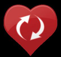 seta de ícone de coração