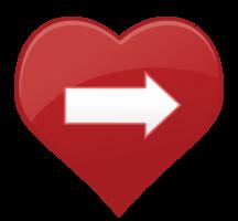 Herz Symbol Pfeil png