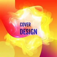 Red yellow gradient blurry shape aurora cover design