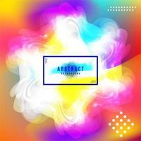 Bright rainbow blurry shape, snowflake or aurora cover