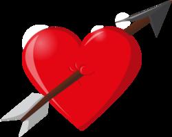 flecha del corazón