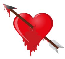 heart arrow dripping blood png