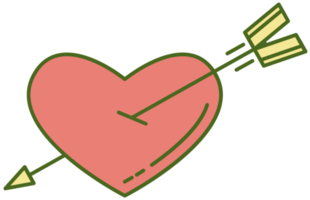 Cure heart with arrow