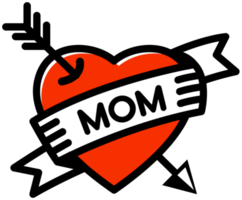 Heart mom tattoo