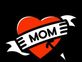 tatuaje de mamá de corazón