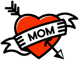 Heart mom tattoo png