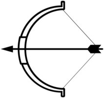 arco e freccia png