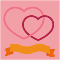 Heart with banner png