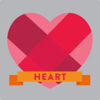 corazón con banner