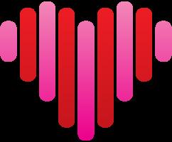 latido del logotipo del corazón