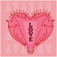 Heart valentine's card png