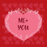 carte de Saint Valentin coeur