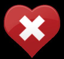 hart pictogram kruis