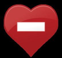 Herzsymbol kein Eintrag