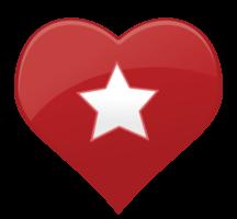 hart pictogram ster